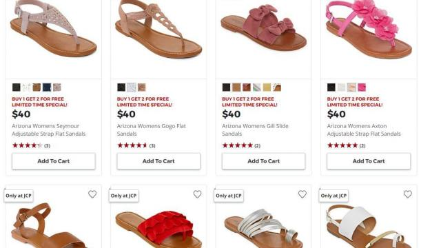 295e2ccf0d845 HOT Women s Sandals deal at JCPenney  Buy 1 Get 2 FREE through ...