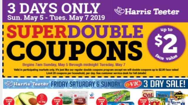 photo regarding Ross Printable Coupons known as Harris Teeter Tremendous Doubles Demonstrated for Could possibly 5-7 ::