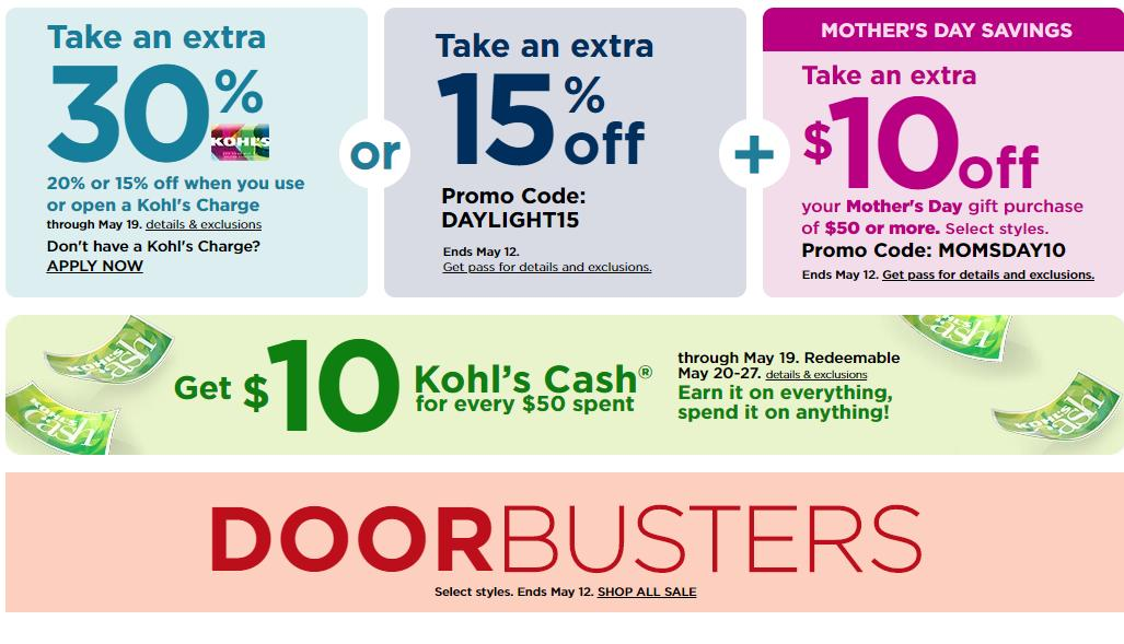 Kohl S New 30 Off Coupon 10 Off 50 Coupon 20 Off Jewelry Coupon Kohl S Cash Wral Com