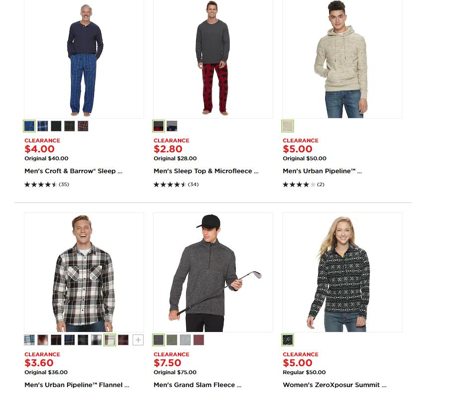 873b082ee Up to 90% off Kohl's Clearance + 30% off coupon + Kohl's Cash ...