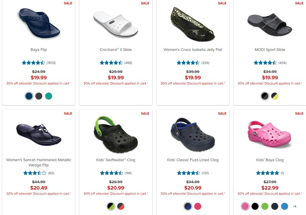 Crocs Shoes: 30% off Memorial Day Sale