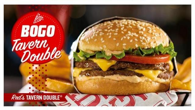 picture regarding Red Robin Printable Coupons named Crimson Robin: No cost Tavern Double Burger Fries with acquire