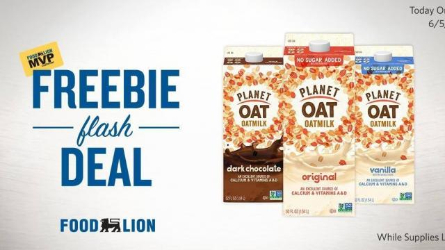 photograph about Food Lion Printable Coupons identify Rush! No cost Earth Oat Oatmilk 52 oz. carton against Food stuff Lion