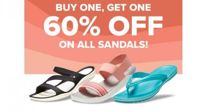 Crocs Sandals: Buy One Get One 60% Off