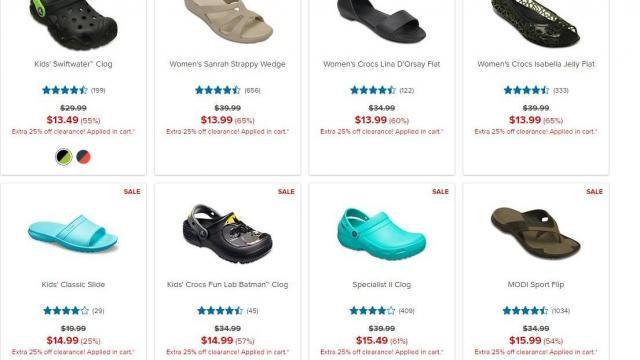 Crocs Shoes: Additional 25% off