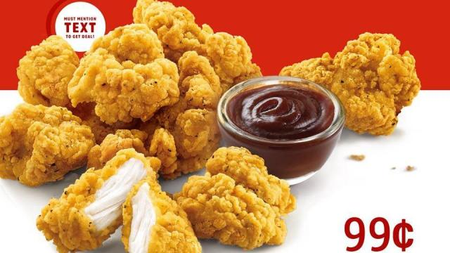 photograph about Sonics Printable Coupons identified as Sonic: Jumbo Popcorn Chook merely $0.99 At present ::