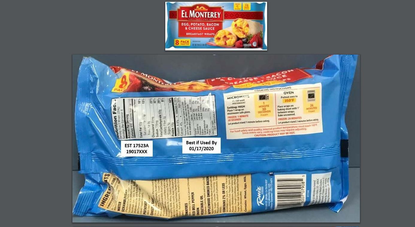 Egg Recall 2020 List.Recall El Monterey Burrito Breakfast Wraps Due To Possible