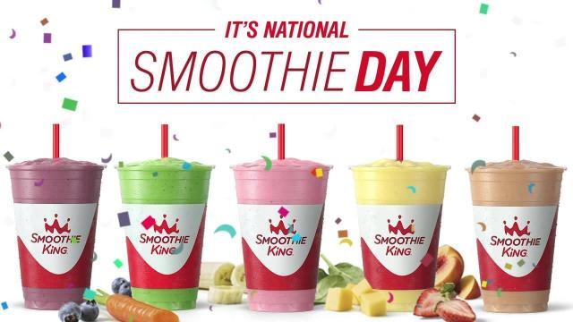 photograph about Smoothie King Printable Coupons identify Nationwide Smoothie Working day Freebies Friday, June 21 ::
