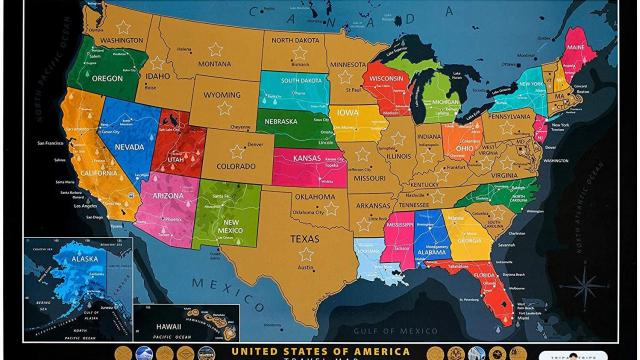 Map Of Arizona Landmarks.Scratch Off United States Map With Landmarks Only 13 97 Wral Com