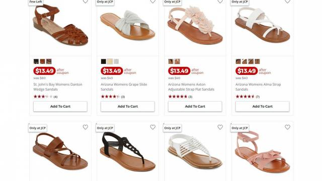 Sandals \u0026 Slides only $13.49 (reg. $40