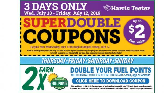 image relating to Scene 75 Printable Coupons referred to as Harris Teeter discounts 7/10: Verified Tremendous Doubles, peaches