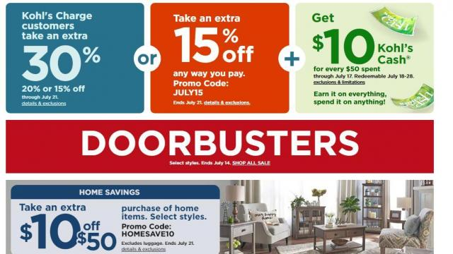 image relating to Noodles and Company Printable Coupons titled Kohls: Refreshing 30% off coupon + $10 off Residence + $10 Kohls Income