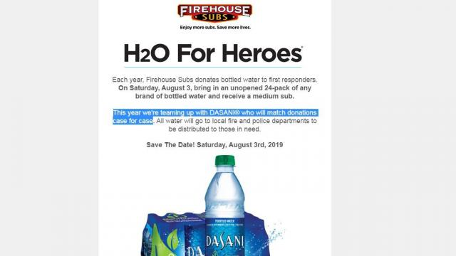 photo relating to Firehouse Subs Printable Menu referred to as Firehouse Subs: Cost-free sub with h2o donation upon 8/3 ::