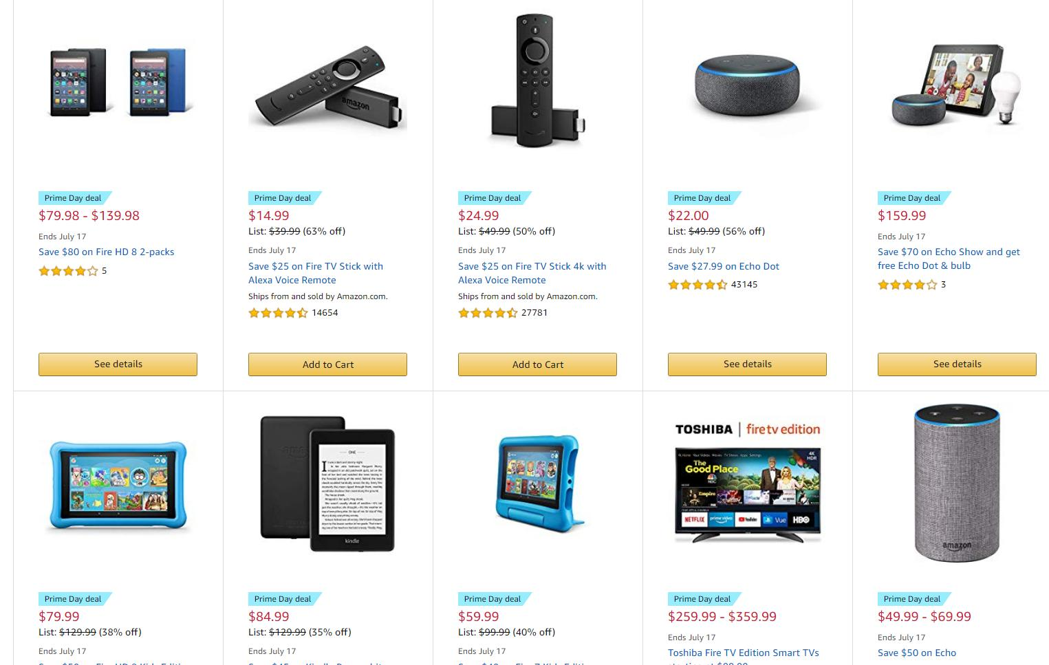 fcf80a9f HOT DEAL ALERT: Amazon Prime Day device deals are available NOW: Fire TV  Sticks ($14.99), Echo, Fire tablets, Kindles, Ring Doorbell & more ::  WRAL.com