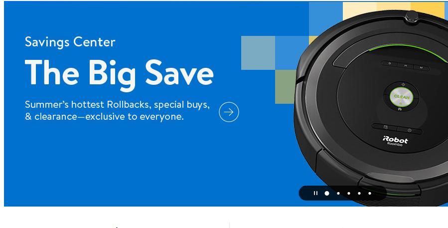 Walmart online event with thousands of special buys now through July