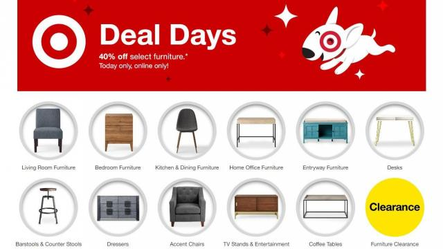 Target Deal Days 40 Off Select Furniture Today Wral Com
