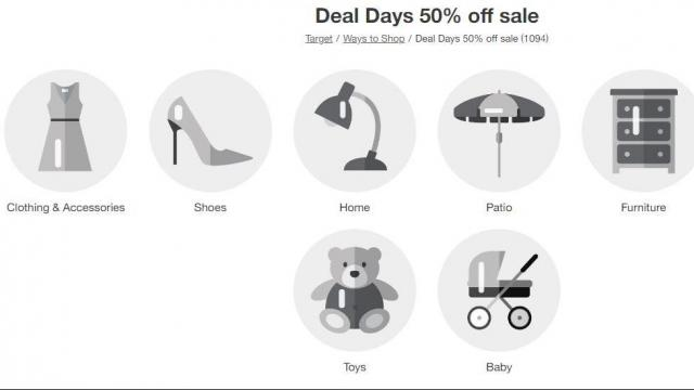Target Deal Days: 50% off select clothing, shoes, home