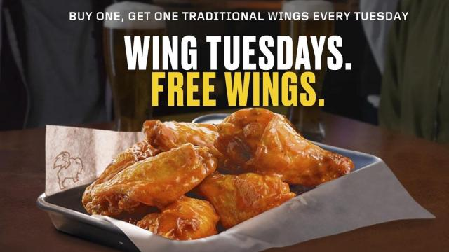 image relating to Buffalo Wild Wings Printable Coupons identify Buffalo Wild Wings: Invest in 1, take just one free of charge wings Nowadays