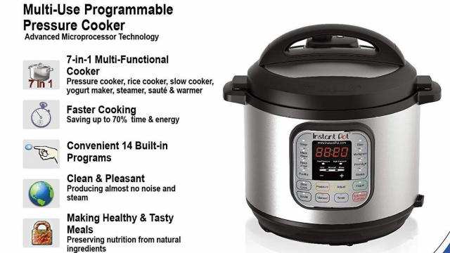 Instant Pot Duo60 6 Qt 7 In 1 Pressure Cooker Only 49 99 50 Off At Amazon Wral Com