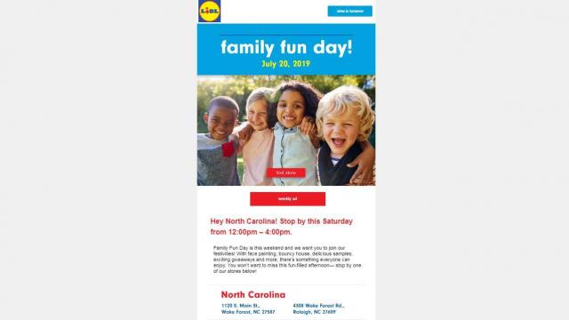 Lidl Family Fun Day at Raleigh, Wake Forest & Sanford