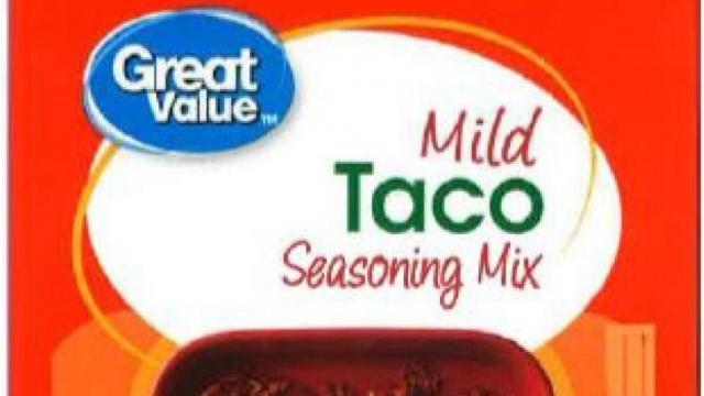 Great Value Taco Seasoning Mix (photo courtesy fda.gov)