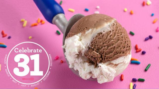 Baskin-Robbins: $1 70 scoops today, July 31 :: WRAL com