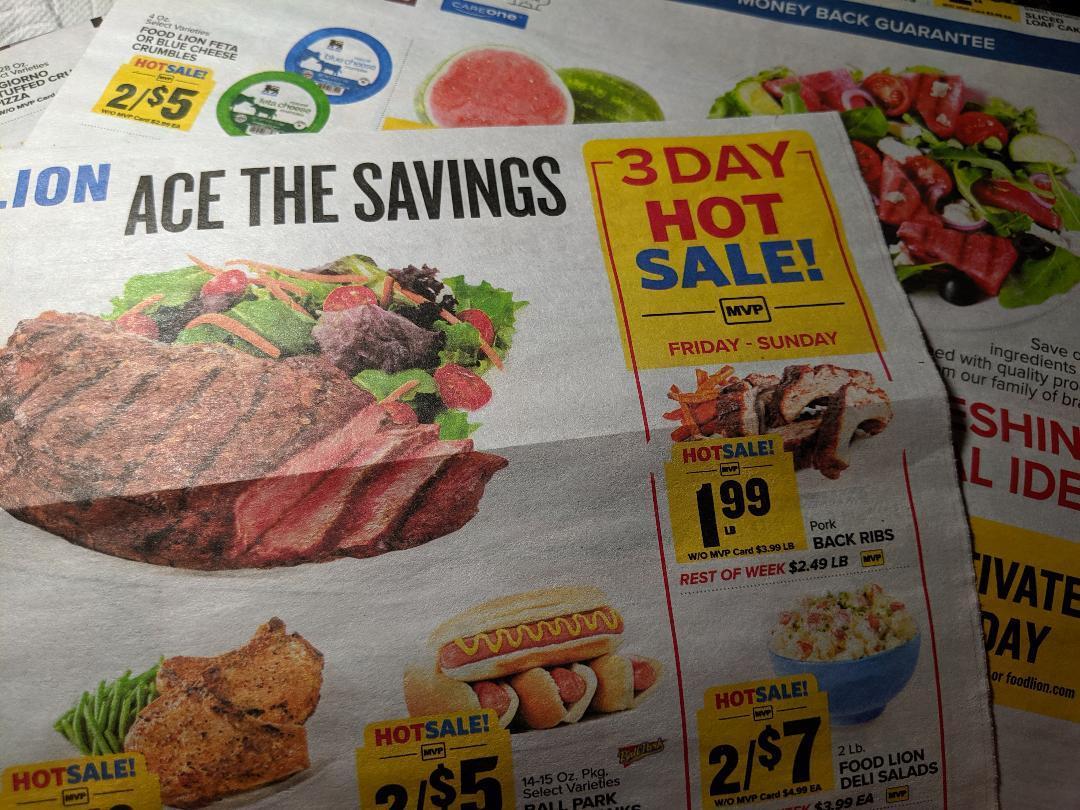 image regarding Food Lion Printable Coupons identify Foodstuff Lion 3-Working day Sale: Pork back again ribs, Freschetta pizza