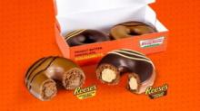 IMAGES: FREE Krispy Kreme Reese's Filled Doughnut with purchase August 7
