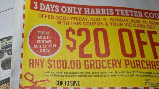 photograph regarding Golf Smith Printable Coupon named Refreshing Harris Teeter Coupon: $20 off $100 buy legitimate 8/9-8