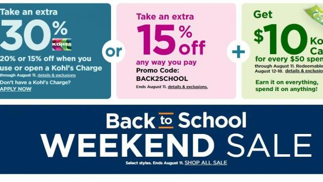 Kohl S 30 Off Coupon 10 Kohl S Cash 10 Off Coupons
