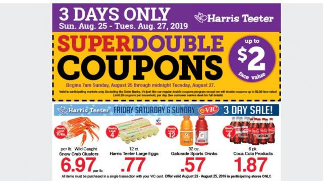 picture about Scene 75 Printable Coupons named Harris Teeter Tremendous Doubles record, eggs, Ragu, bacon, 3-Working day
