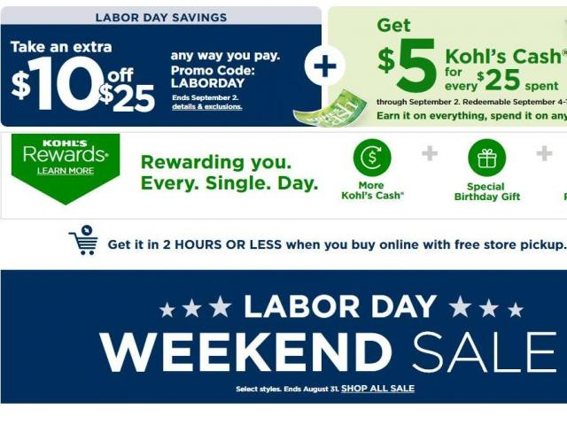 Kohl S Coupon For 10 Off 25 Purchase