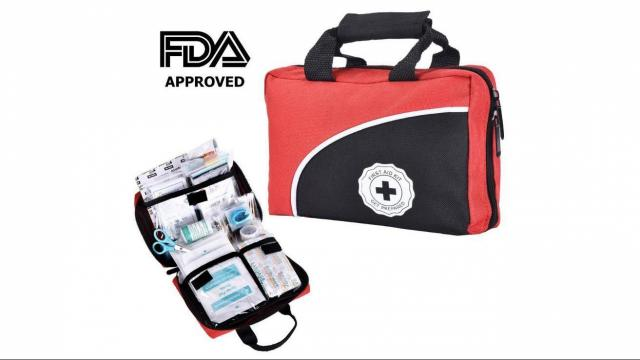 First Aid Kit with 115 Pieces only $14 44 :: WRAL com