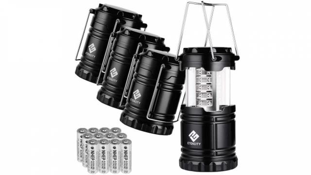 LED Emergency & Outdoor Lanterns 4-pack with batteries only