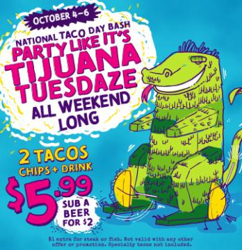 Tijuana Flats Offer