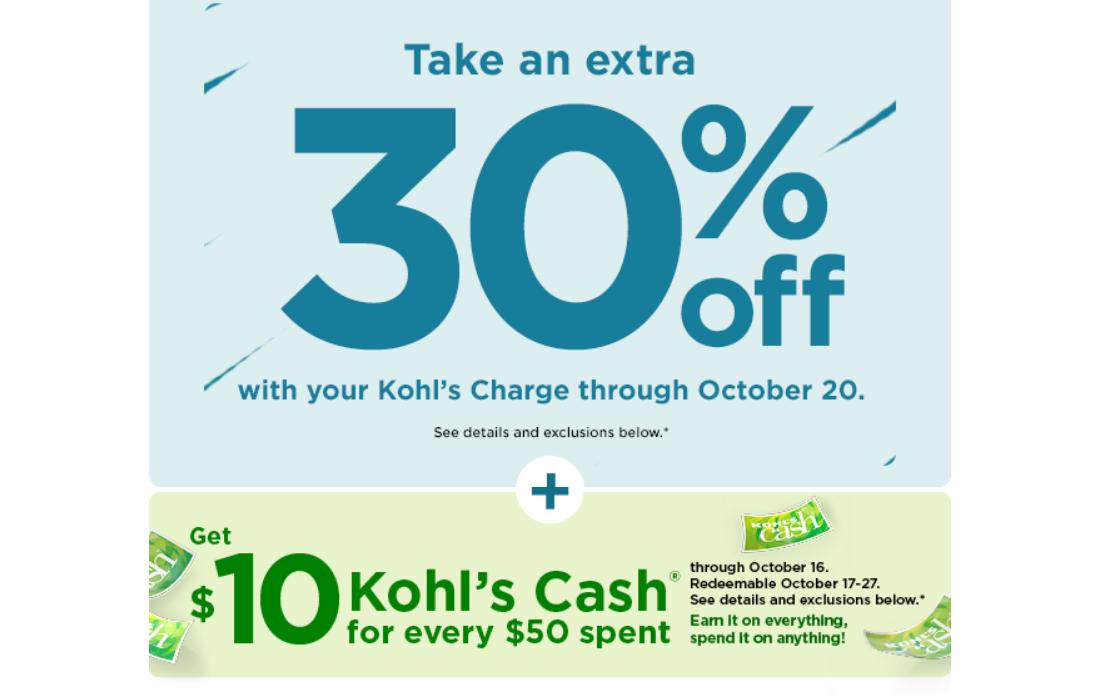 Kohl S 30 Off Coupon 10 Men S Coupon 15 Off Home