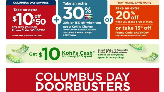 Kohl S New 10 Off 50 Coupon 30 Off Coupon 10 Men S Coupon 10 Kohl S Cash Wral Com