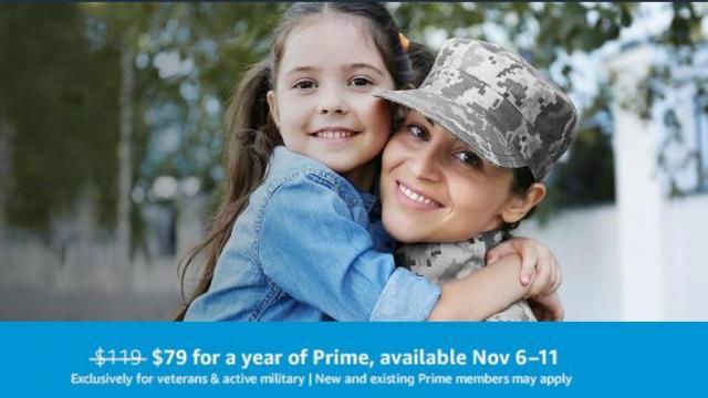 Amazon Prime Offer for Military (photo courtesy Amazon)