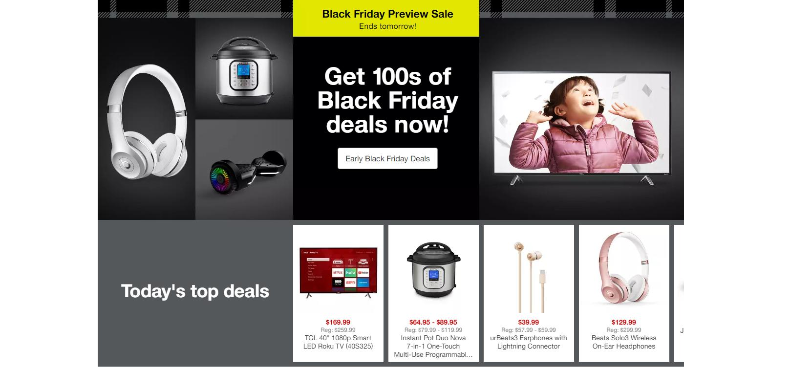 Target Black Friday Preview Sale With Doorbusters Through Nov 9 5 Off Target Gift Cards Wral Com
