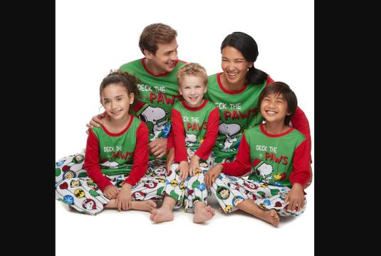 Jammies For Your Families Peanuts Snoopy Family Pajamas Collection