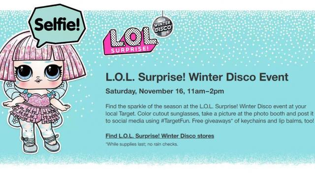 Target Free L O L Surprise Event In Stores This Saturday 11 16