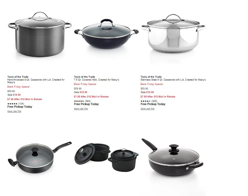 Cookware Only 7 99 After Rebate With Macy S Early Black Friday Sale Now Wral Com