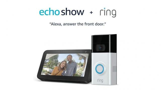 Ring Video Doorbell 2 with Echo Show 5 (photo courtesy Amazon)