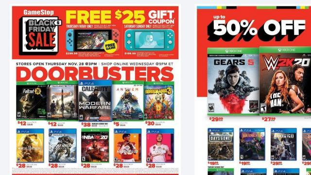 GameStop Black Friday Ad (photo courtesy GameStop)
