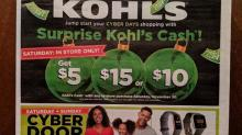 IMAGES: Kohl's Cyber Monday Triple Stack: $15 Kohl's Cash + $10 off $50 coupon + 20% off coupon!