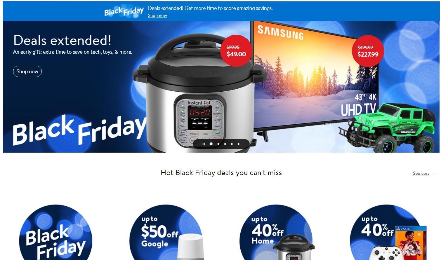 Walmart's Black Friday deals are still valid Sunday + Cyber Monday starts  at midnight :: WRAL.com