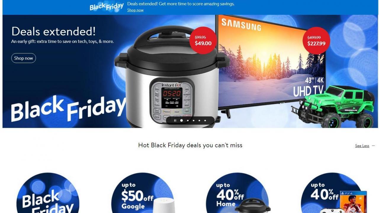 Walmart's Black Friday deals are still valid Sunday + Cyber