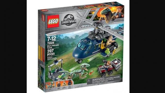 LEGO Jurassic World Blue's Helicopter Pursuit Set (photo ocurtesy Kohl's)