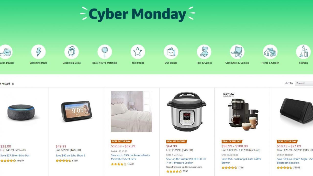 Amazon Cyber Monday Sale Live Now With 65 New Deals Of The Day On Monday Wral Com
