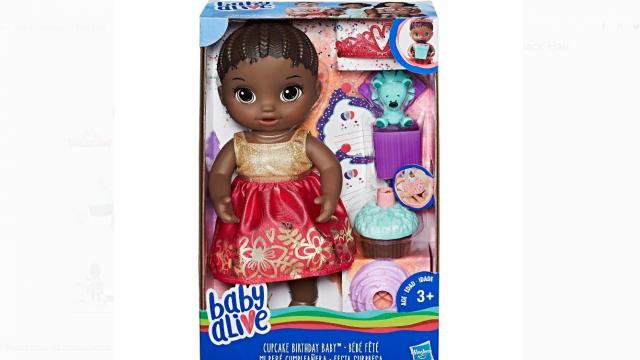 Baby Alive Cupcake Birthday Baby with Black Hair